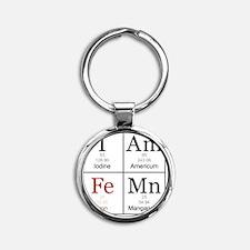 IAmFeMnFlat Round Keychain