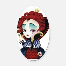 Queen of Hearts Oval Car Magnet