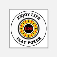 "poker3 Square Sticker 3"" x 3"""