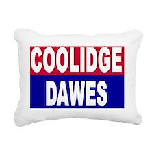 coolidge-dawes-lawn-sign Rectangular Canvas Pillow