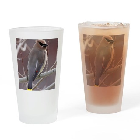 ms waxwing Drinking Glass