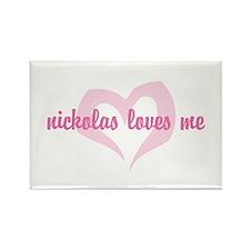 """""""nickolas loves me"""" Rectangle Magnet"""