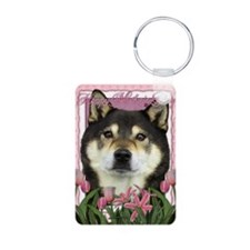 Mothers_Day_Pink_Tulips_Sh Keychains