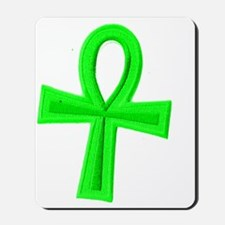 Green Ankh Mousepad
