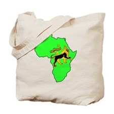 Green Africa Lion Tote Bag