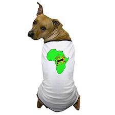 Green Africa Lion Dog T-Shirt