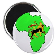Green Africa Lion Magnet