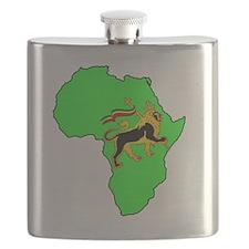 Green Africa Lion Flask