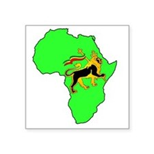 "Green Africa Lion Square Sticker 3"" x 3"""