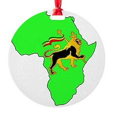 Green Africa Lion Ornament