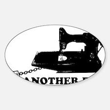 sweatshop Sticker (Oval)
