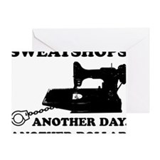 sweatshop Greeting Card