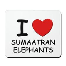 I love sumaatran elephants Mousepad