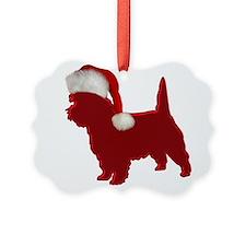 Santa Cairn Terrier Ornament