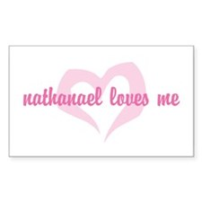 """""""nathanael loves me"""" Rectangle Decal"""