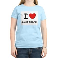 I love sugar gliders Women's Pink T-Shirt