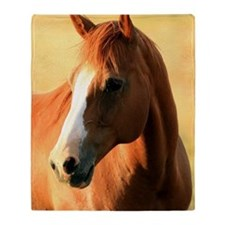 horse,1 Portrait Throw Blanket