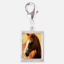 horse,1 Portrait Silver Portrait Charm