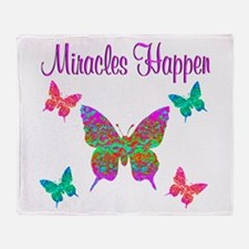 MIRACLES HAPPEN Throw Blanket