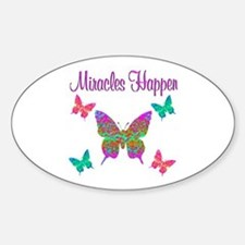 MIRACLES HAPPEN Sticker (Oval)
