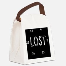 clock lost numbers Canvas Lunch Bag