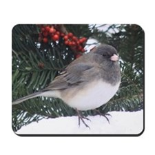 Junco with Berries Mousepad