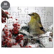 Goldfinch with Berries Puzzle