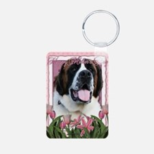 Mothers_Day_Pink_Tulips_Sa Keychains