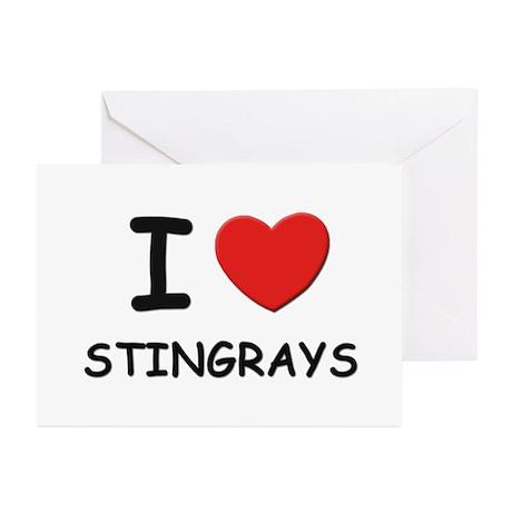 I love stingrays Greeting Cards (Pk of 10)