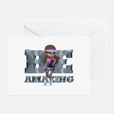 Be Amazing Tennis Greeting Card