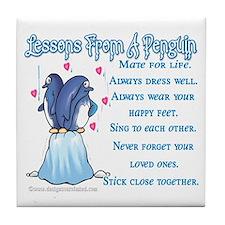 Penguin Lessons Tile Coaster