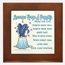 Penguin Lessons Framed Tile
