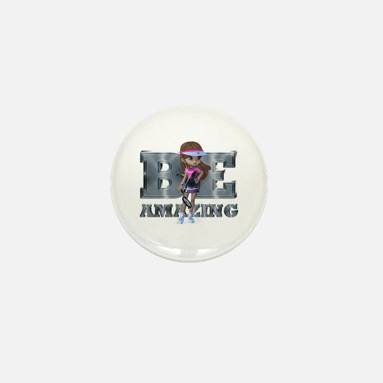 Be Amazing Tennis Mini Button