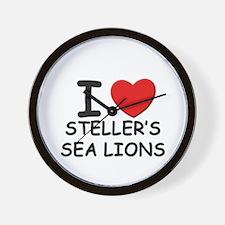 I love steller's sea lions Wall Clock
