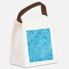 AntScrollDTbluSq Canvas Lunch Bag