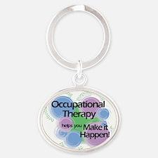Friday-OT-tshirt-2009-for-dark-print Oval Keychain