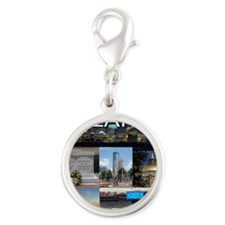 ATLANTAGEORGIA_TAL_COLLAGE Silver Round Charm