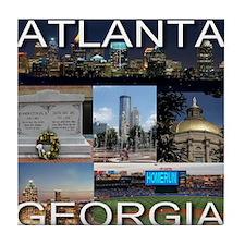 ATLANTAGEORGIA_TAL_COLLAGE Tile Coaster