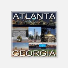 "ATLANTAGEORGIA_TAL_COLLAGE Square Sticker 3"" x 3"""