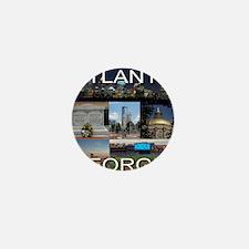 ATLANTAGEORGIA_TAL_COLLAGE_BLACK Mini Button