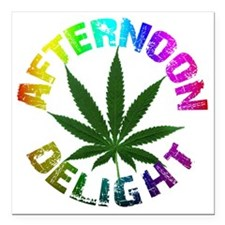 "afternoon_delight_rainbo Square Car Magnet 3"" x 3"""