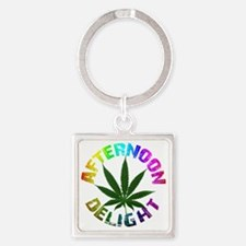 afternoon_delight_rainbow Square Keychain