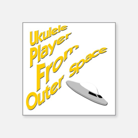 """Ukulele Player From Outer S Square Sticker 3"""" x 3"""""""