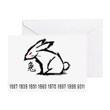 rabbit33red Greeting Card