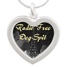 Radio Free DogSpit. Silver Heart Necklace