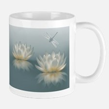 Lotus and Dragonfly Mug