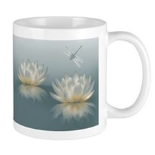 Lotus and Dragonfly Small Mug