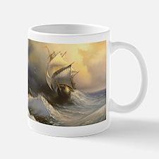Stormy Frigate Painting Mug