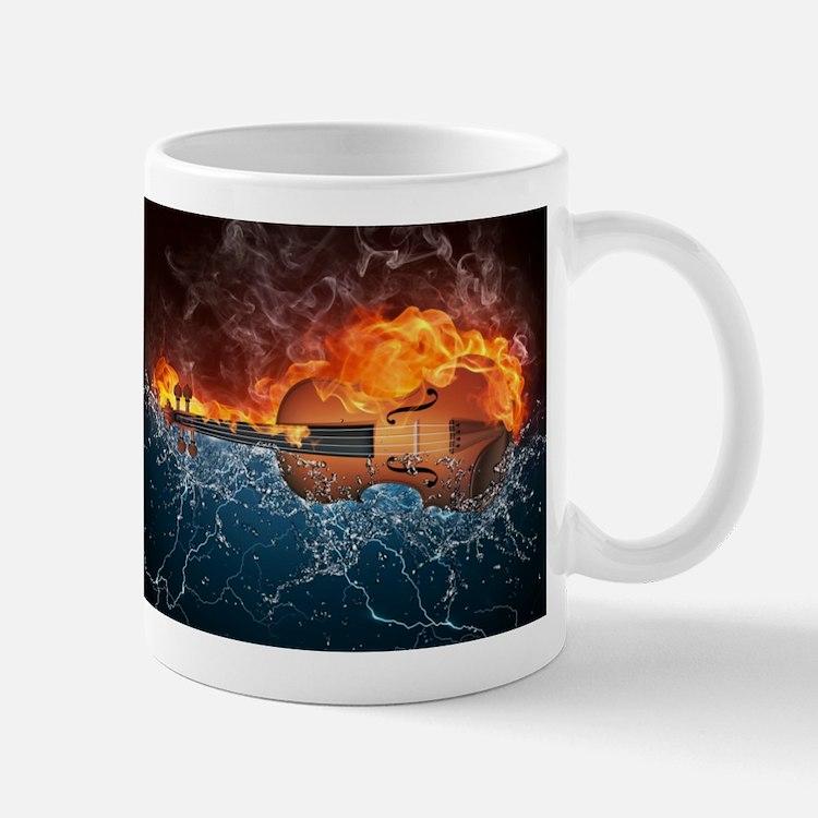 Fire and Water Violin Mug