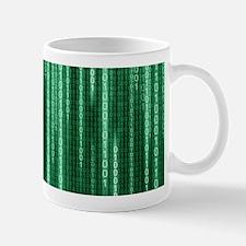 Green Binary Rain Small Small Mug